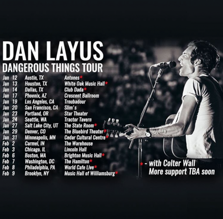 Dan Layus will kick off his headlining tour on Jan. 12 in Austin, Texas.