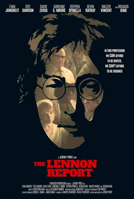 """A theatrical poster for """"The Lennon Report."""""""