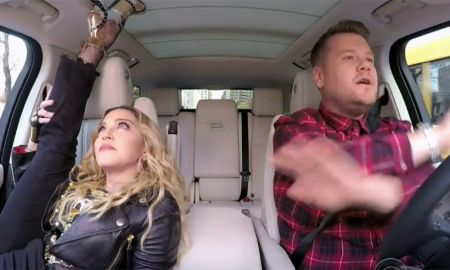 Madonna gets flexible on 'Carpool Karaoke'