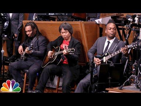 Watch: Nintendo mastermind Shigeru Miyamoto jams with The Roots and Jimmy Fallon geeks out playing Nintendo