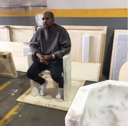 Kanye West resurfaces after hospitalization with new blonde hair