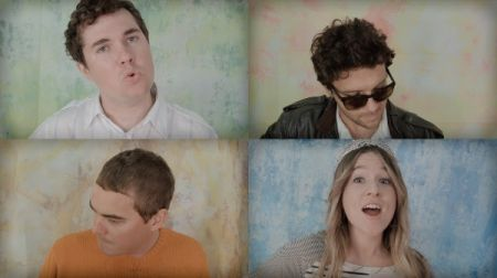 """Surfer Blood revisit high school photo day in their new music video for """"Matter of Time."""""""