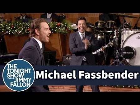 Watch: Michael Fassbender and Jimmy Fallon face off in Air Guitar Battle