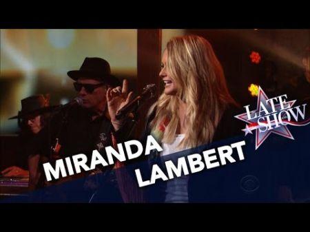 Watch Miranda Lambert perform 'Highway Vagabond' on 'The Late Show'