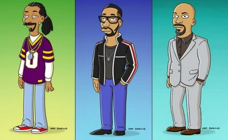 Snoop, RZA, and Common Simpsonified.
