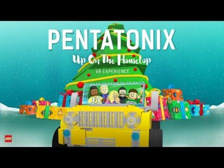 Pentatonix transform into Legos for their 'Up On The Housetop' music video