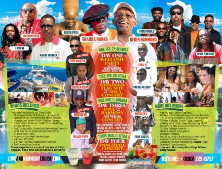 Join Shabba Ranks, Konshen on Love & Harmony Caribbean Cruise 2017