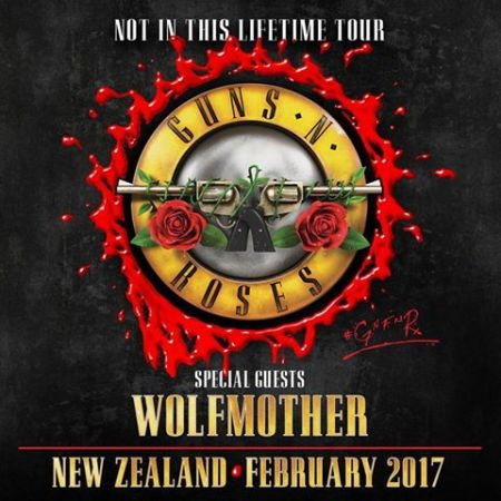 Wolfmother will join Guns N' Roses for select shows in New Zealand and Australia in 2017.