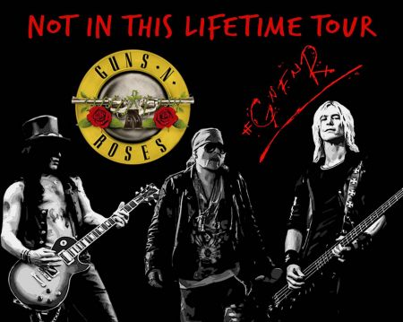 Guns N' Roses will tour through Japan, New Zealand, Australia, the Middle East, Europe and North America in 2017.