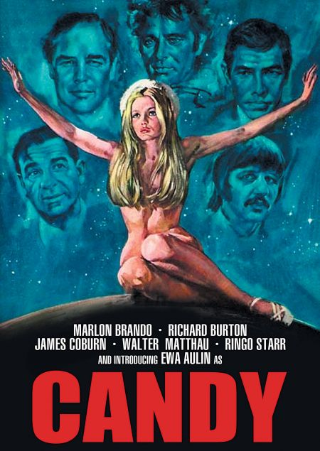"""The cover of tne DVD version of the 1968 film """"Candy."""""""