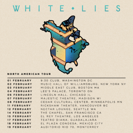 White Lies announce 2017 North American tour