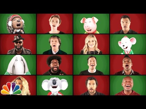 Watch Paul McCartney, Jimmy Fallon and the cast of 'Sing' perform 'Wonderful Christmastime' a cappella