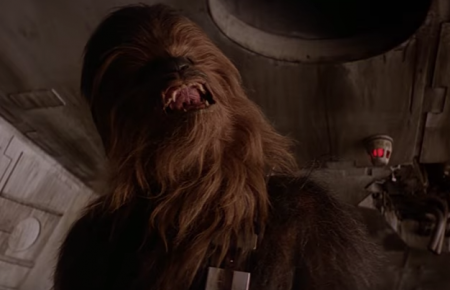 "Chewbacca sings ""Silent Night"" in a new mashup video of the Star Wars wookie"