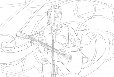 Paul McCartney has released three new coloring templates, available for download on his website.