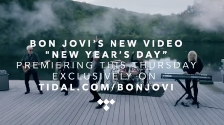 "Bon Jovi just released a music video for ""New Year's Day,"" a song off their new album This House is Not for Sale."