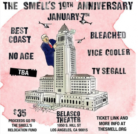 On Jan. 7, iconic Downtown L.A. venue The Smell will host a special anniversary concert at The Belasco Theater to raise money for their relo
