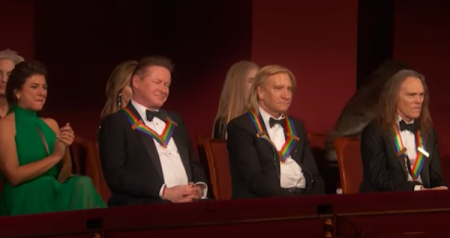 Members of The Eagles watch the performance in their honor at the 2016 Kennedy Center Honors Ceremony.