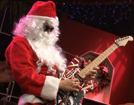 """Eddie Van Halen performing """"Joy To The World"""" on 2003'sSantamentalis certainly one of the top forgotten holiday songs."""