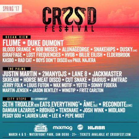 CRSSD Fest announces spring 2017 lineup