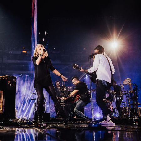 Carrie Underwood and David Crowder perform at the 2017 Passion Conference in Atlanta, Georgia.