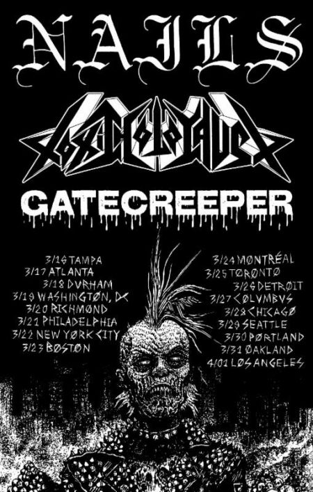 Death metal's Gatecreeper to tour North America thing spring
