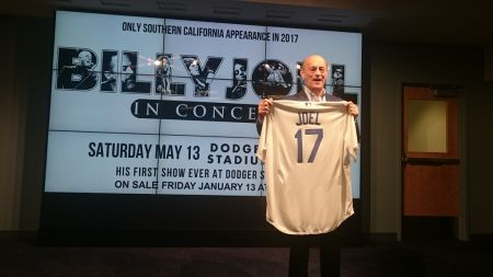 A press conference was held at Dodger Stadium on Thursday to announce Billy Joel's first ever concert at Dodger Stadium.
