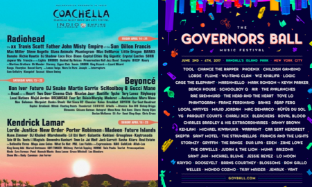 Which festival lineup released this week has the stronger undercard lineup, Governors Ball or Coachella?