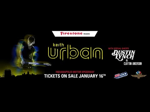 Keith Urban to headline Indianapolis 500 Legends Day Concert