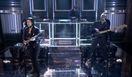 The xx perform on The Tonight Show Starring Jimmy Fallon on Tuesday.