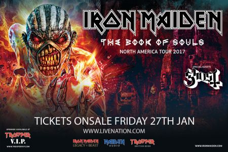 Iron Maiden's The Book Of Souls World Tour returning to North America in 2017
