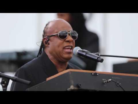 Watch: Stevie Wonder surprises singer in hotel lobby
