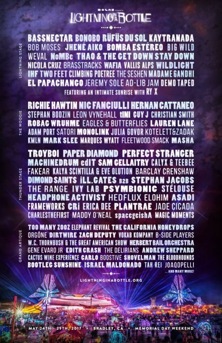 Lightning In A Bottle announces full 2017 lineup