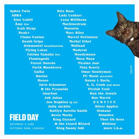 Run the Jewels, Arab Strap and more added to 2017 Field Day festival lineup