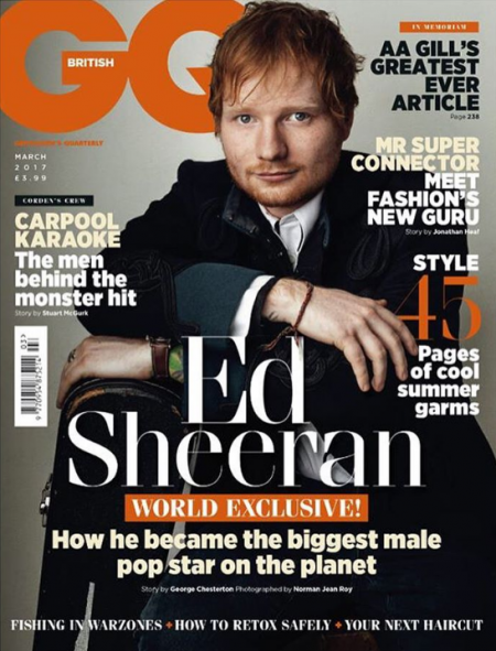 Ed Sheeran says Adele is his biggest competitor in a British GQ interview