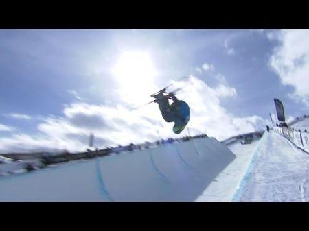 Aaron Blunck wins gold in men's superpipe skiing at 2017 Winter X Games