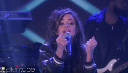 Camila Cabello makes her performance debut as a solo artist onEllenon Monday.