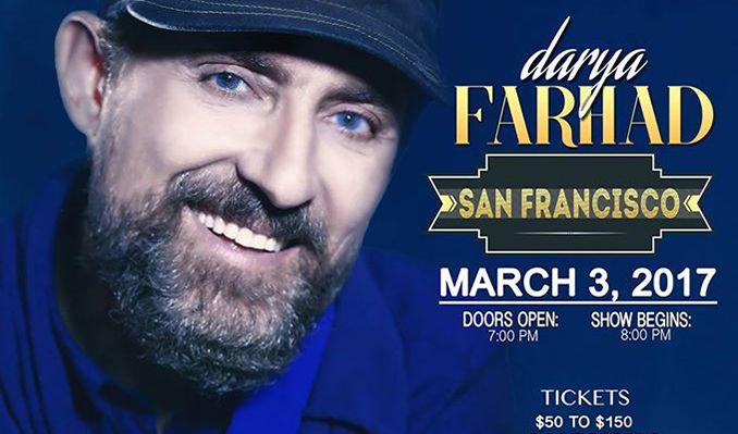 Farhad Darya tickets at The Warfield in San Francisco