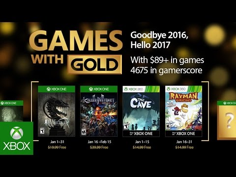 XBOX January 2017 Games with Gold announced