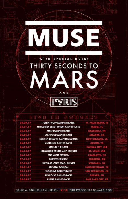 Muse and Thirty Seconds To Mars Announce Extended Tour