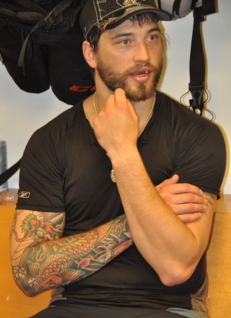 Sharks defenseman Brent Burns, shown here a few years ago without his now-trademark beard, is the best player in the NHL this season, as mea