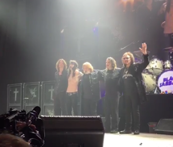 "Black Sabbath take their final bow together after their last performance on their ""The End"" tour in their hometown in Birmingham, England."