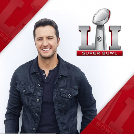 Luke Bryan sang the National Anthem at Super Bowl LI