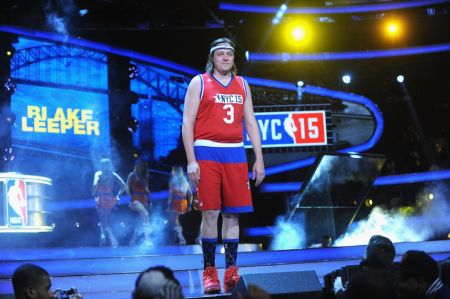 Arcade Fire's Win Butler competes in the 2016 NBA Celebrity All-Star Game in 2016. He'll return to defend his MVP title in New Orleans next