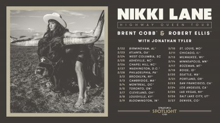 The Stagecoach Spotlight Nikki Lane Highway Queen Tour kicks off on Feb. 22 in Birmingham, Alabama.