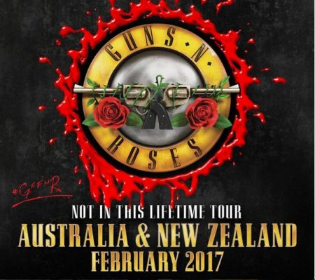Angus Young pulled a fast one on GNR to welcome them to Australia.