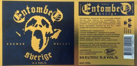 Entombed guitarist Alex Hellid launches 'Entombed Sverige' beer
