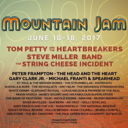 Mountain Jam released their final lineup announcement on Friday, which now includes String Cheese Incident.