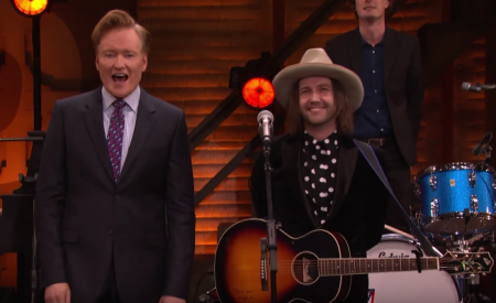 Aaron Lee Tasjan made his late night debut as a solo artist on Conan on Thursday night.