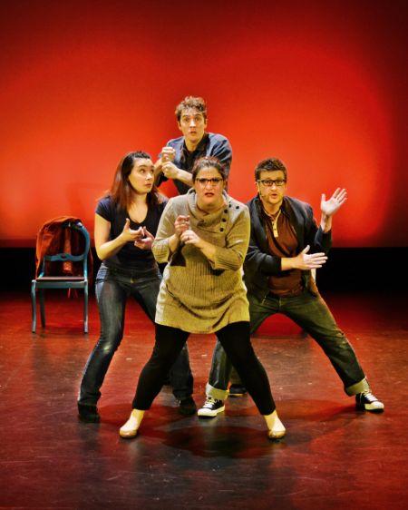 Left to right, Myriah Riedel as Heidi,Garrett Dill as Jeff,Jasmine Joshua as Susan,Adam Minton as Hunter