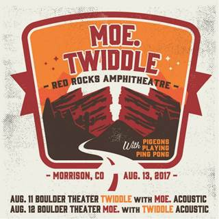 moe. and Twiddle are coming to Red Rocks August 13.